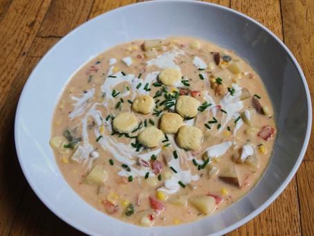 Vegan southwest corn chowder