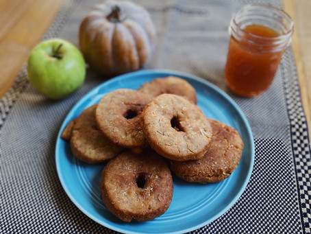 Vegan apple cider doughnuts