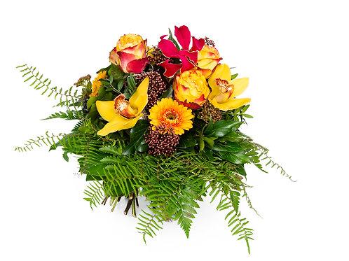 Strauss mit Orchideen ,Rosen
