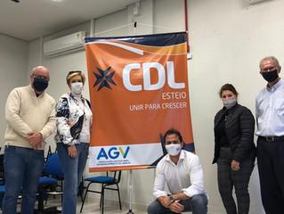 AGV reúne-se com a CDL Esteio para formação de jovens líderes