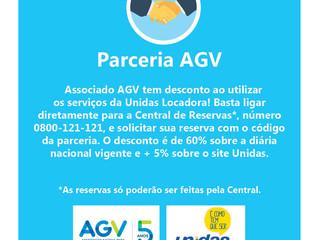 AGV firma parceria com a Unidas Locadora