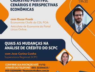 Santa Maria | CDL realiza palestra sobre cadastro positivo com economista de Porto Alegre