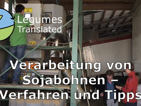 Processing of soybeans - methods and tips, Legumes Translated tenth video published