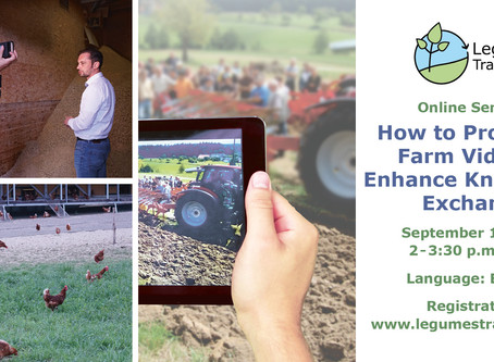 How to produce a farm video  - Legumes Translated online seminar