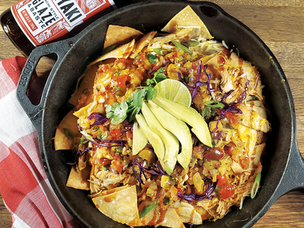 Asian Nachos with Pineapple Salsa