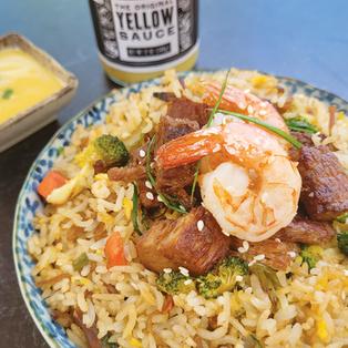 Surf 'N Turf Yellow Fried Rice