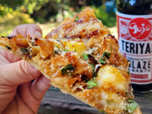 TERIYAKI PINEAPPLE CHICKEN PIZZA