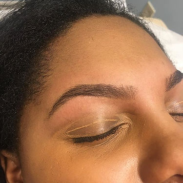 Beautiful brows after a first time wax a