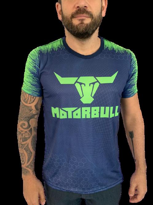 Motorbull® Camiseta Linha Racing Azul