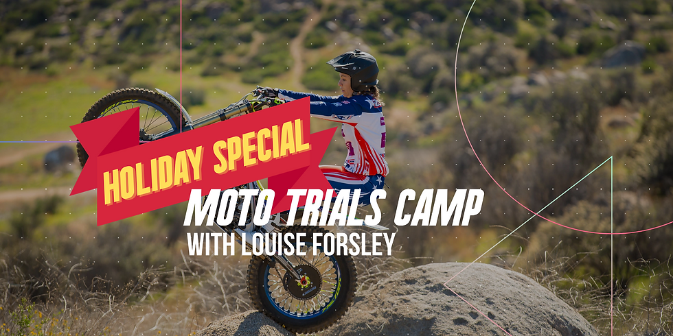 Moto Trials Camp with Louise Forsley at the Kern River Classic