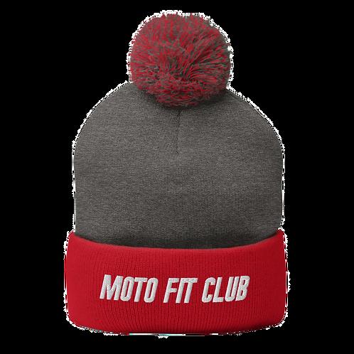 Moto Fit Club Pom-Pom Beanie