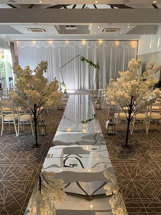 Mirrored Ceremony Aisle