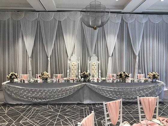 Luxury Top Table Grecian Backdrop