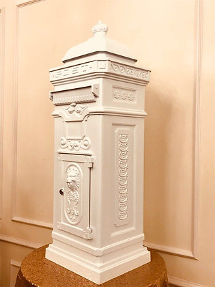 Luxury White Cast Iron Postbox