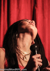 Leah V hosting at Hell Phone in Brooklyn, NY
