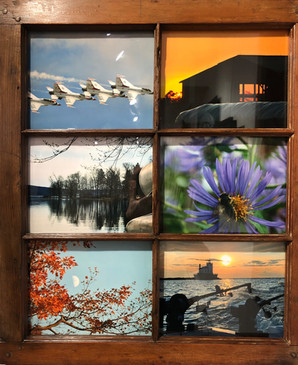 Picture Window: Viewing CNY  #7  Nancy McLaughlin  When we look outside a window, we get a limited view of an enviroment for that moment in time. Another glimpse gives another limited view. This Picture Window displays six limited views of sights seen in Central New York. What would your window show? The possibilities are infinite.  NFS