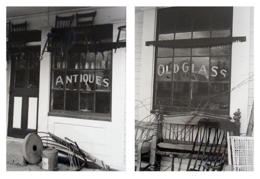 Reflections - Past and Present  #30  Cathy Lee  As a teenager I loved looking in these windows of the old Antique Store in Nelson and wondering about the fascinating treasures inside. The windows also reflect the house across the street. I love old treasures. I also treasure present moments and windows on the future that bless days ahead.  NFS