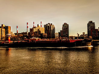 Barge. East River