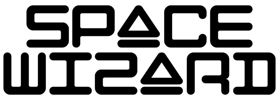 Space Wizard ontop Black Logo.png