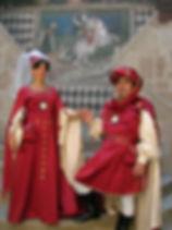 Accoglienza in costume Medievale