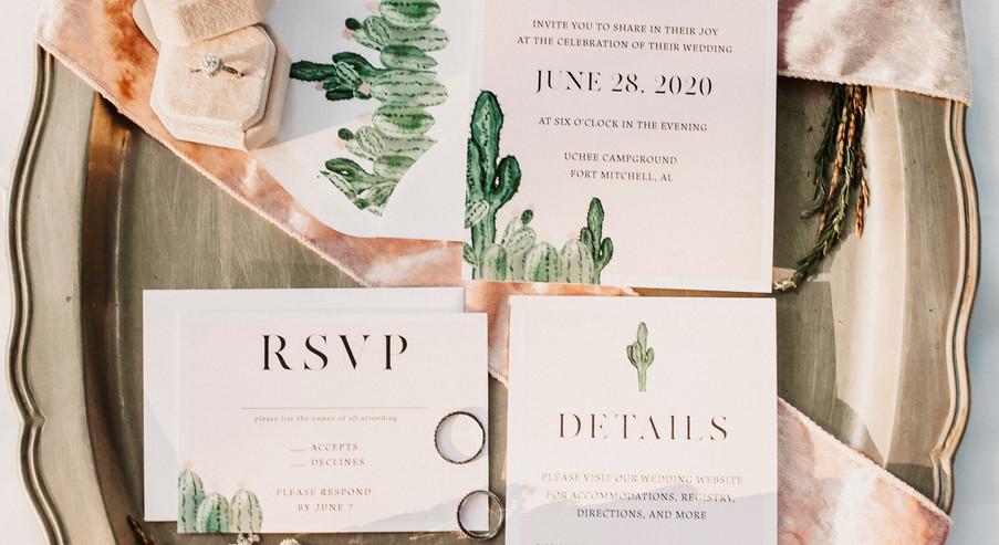 Cactus Invitation Suite