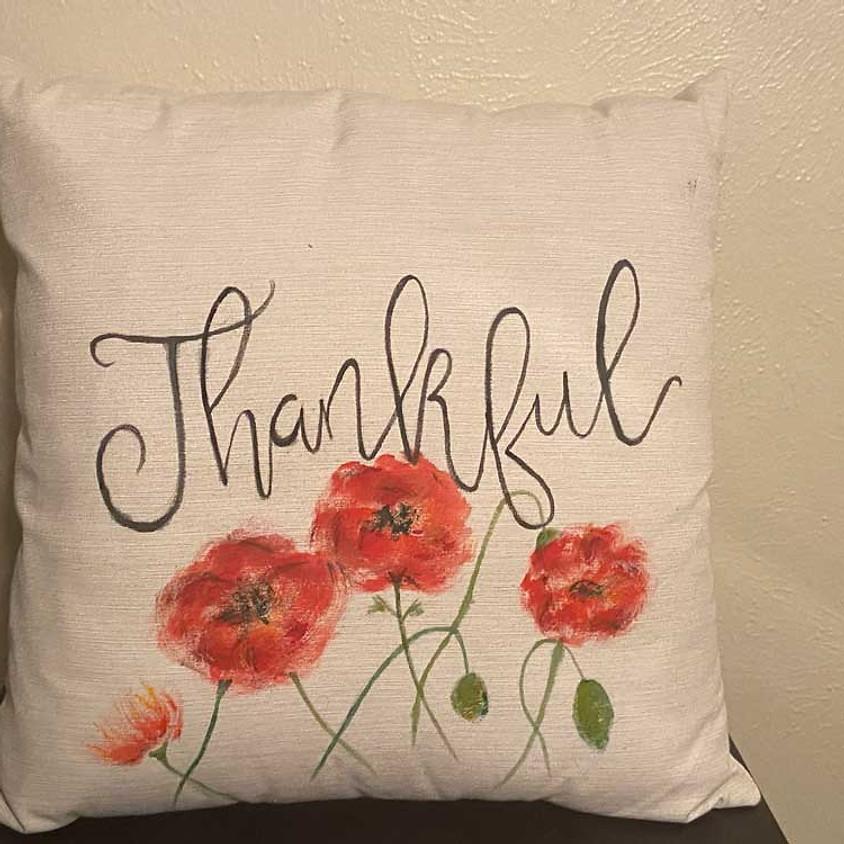 Custom Hand-Painted Throw Pillow