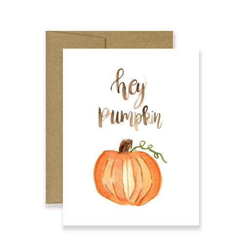 Hey Pumpkin Card