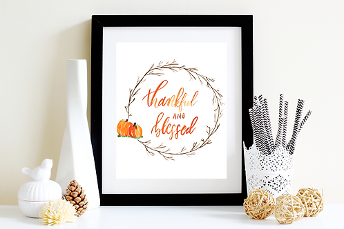 Thankful and Blessed Art Print