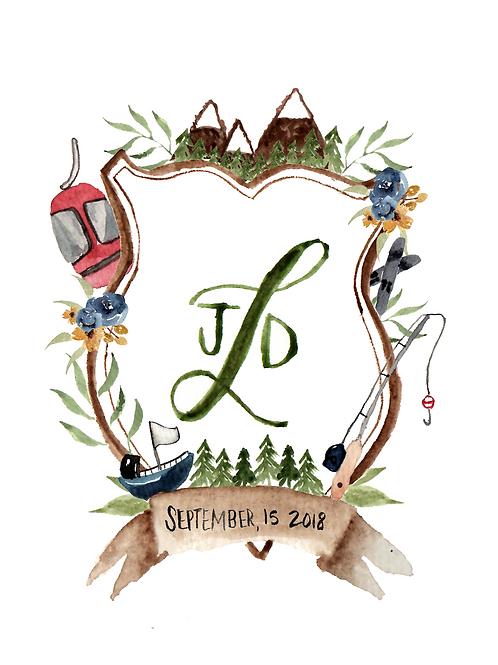 Custom Watercolor Crest