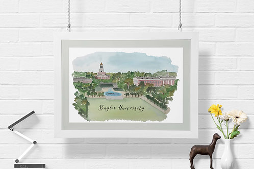 Baylor University Art Print
