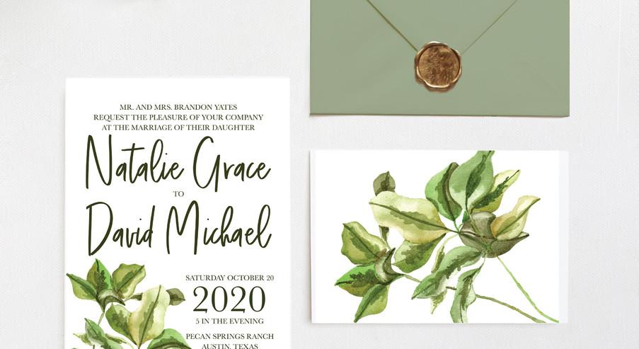 Greenery Invitation Suite