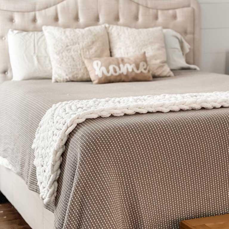 Hand Knit Bed Runner