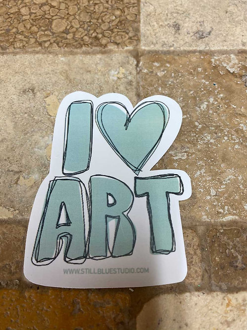 Sticker - I <3 Art