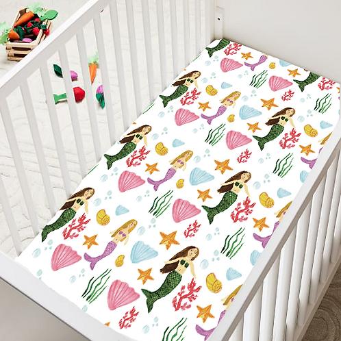 Mermaid Crib Sheet