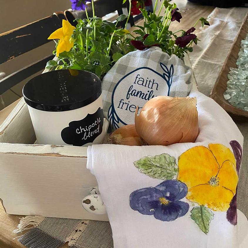 Flower Pounding & Kitchen Upcycle