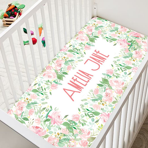 Bright Florals Crib Sheet