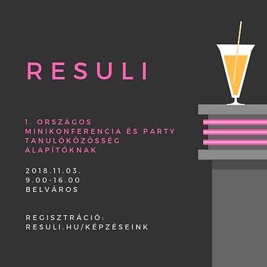 I. Országos tanulócsoport minikonferencia és party
