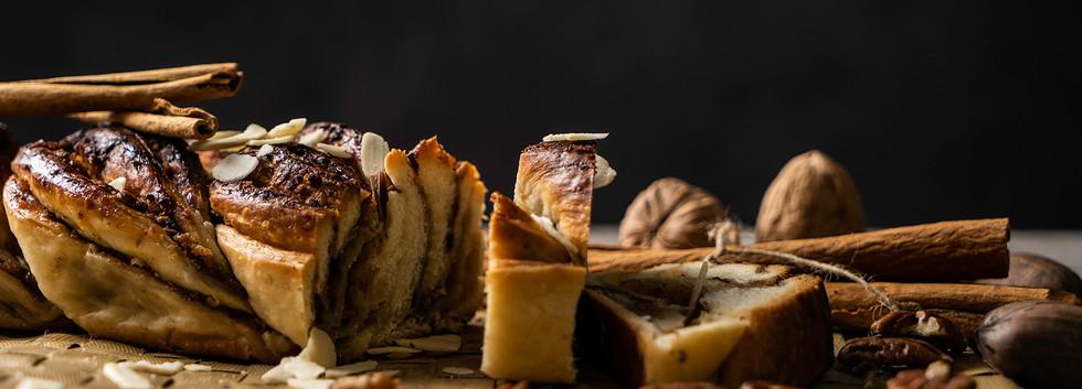 עוגת קראנץ' קינמון ואגוזים