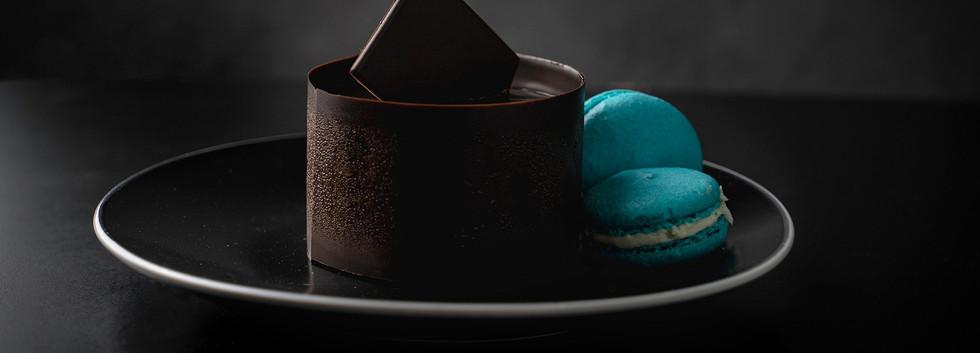 עוגת שוקולד אוכמניות, מנה אישית