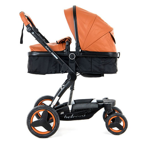 BabyTime™ Belecoo 2019 Model Luxury Pram Stroller 4-In-1 Set With Car Seat