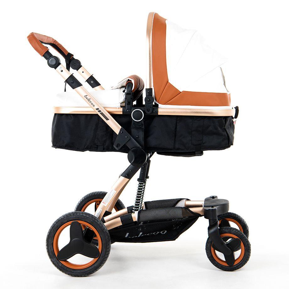 Babytime Belecoo 2019 Model Luxury Pram Stroller 4 In 1 Set With Car Seat Babytime Middle East