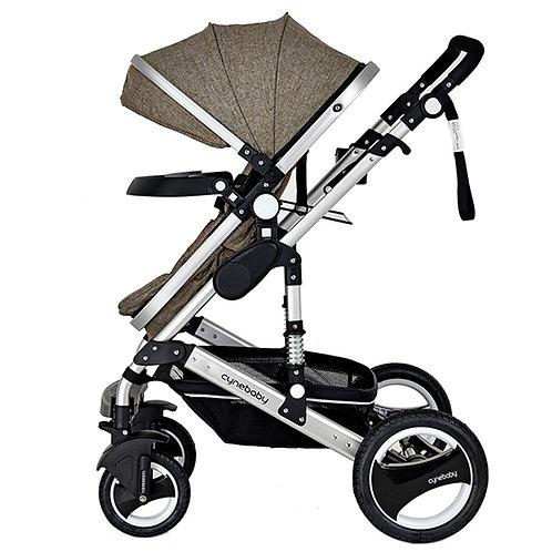 BabyTime™ Cynebaby 3 in 1 Premium Series Anti Shock Stroller Pram