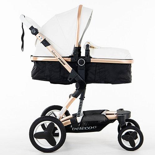 BabyTime™ Belecoo 2019 Model Luxury Pram Stroller 4-In-1 Set With Car Seat