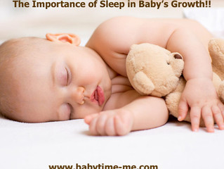 The Importance of Sleep in Baby's Growth!!