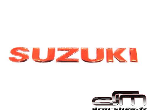 """Sticker 3D """" Suzuki """"  ( Rouge )"""