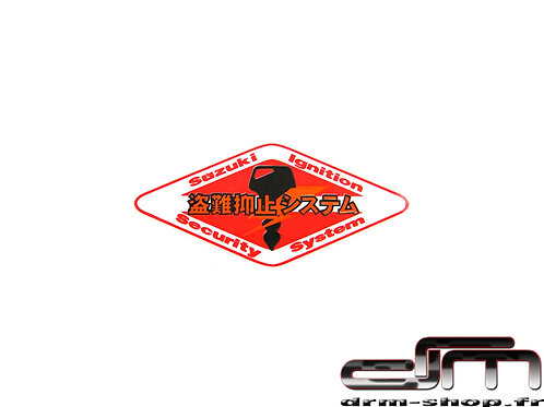 """Sticker """" ISS """" Suzuki"""