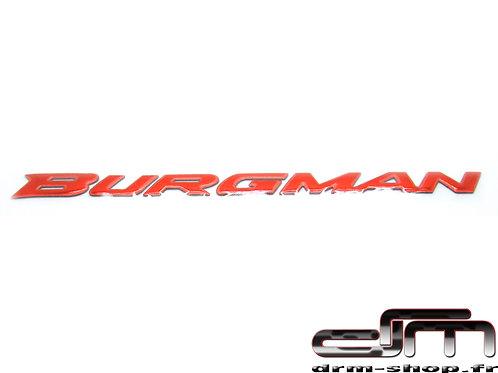 """Sticker 3D """" Burgman """"  ( Rouge )"""