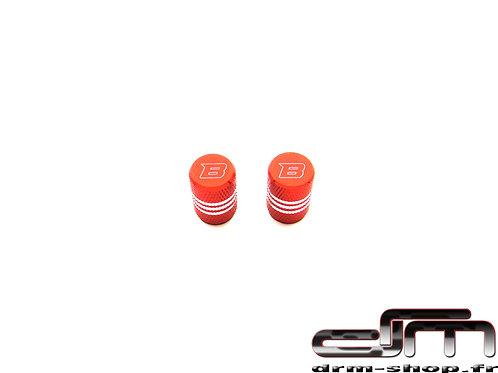 Bouchons de Valves rainurés ( Rouge )
