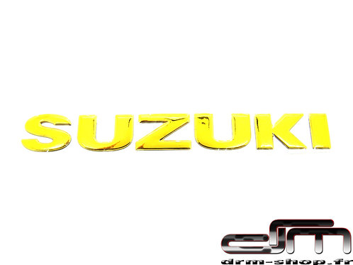 "Sticker 3D "" Suzuki ""  ( Or )"