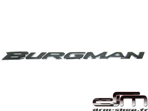 """Sticker 3D """" Burgman """"  ( Noir )"""